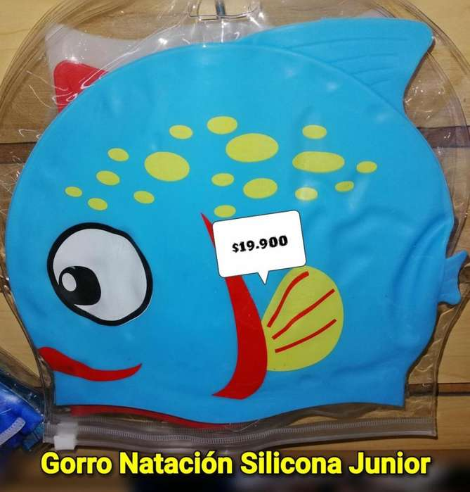 GORRO NATACION PARA NIÑO ANIMADO SILICONA