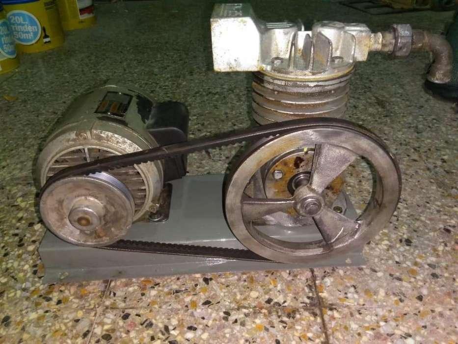 Compresor Agua C/motor 3/4hp Motormech Serv Continuo Usado