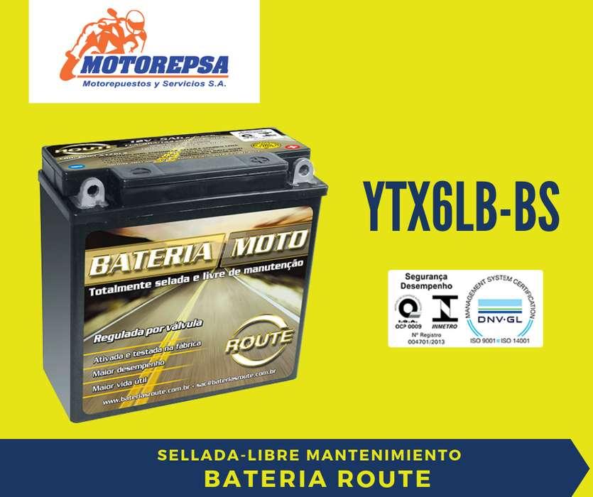 <strong>bateria</strong> MOTO ROUTE YTX6LBBS 12v 5Ah