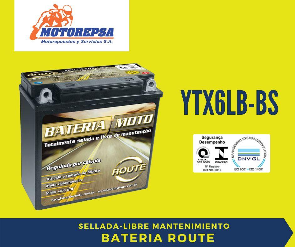 Bateria MOTO ROUTE YTX6LBBS 12v 5Ah