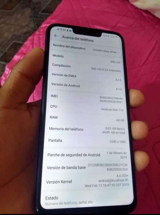 Huawei Mate 20 Lite. 64 Impecable Permut