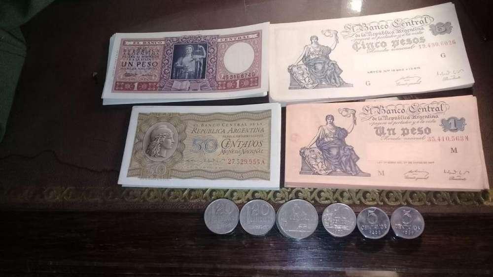 Vendo lote de Billetes antiguos y Monedas