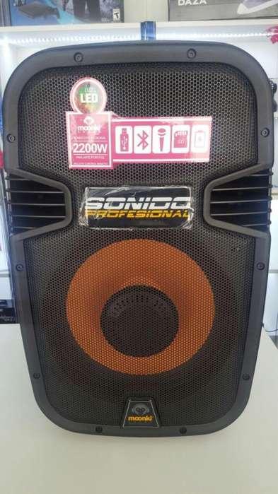 Parlante Bt Karaoke 2200w Audio Profesional
