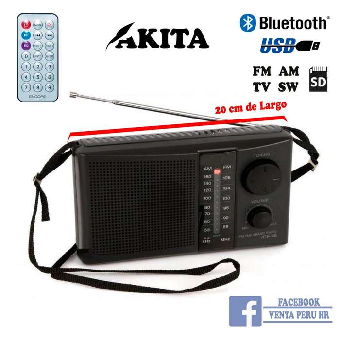 Radio Fm Am Bluetooth Recargable corriente a Pila Usb oferta