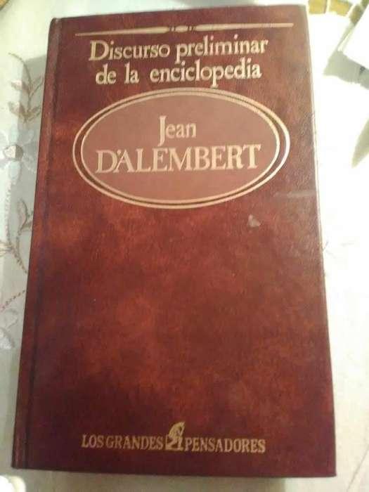 Discurso preliminar de la Enciclopedia Jean D'Alambert