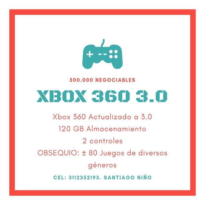 Xbox 360. 120 Gb. 2 Controles. 80 Juegos