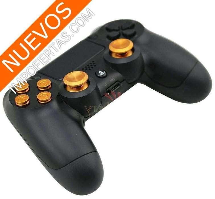 Personaliza tu control de PS4 o PS3, botones de aluminio tipo casquillo de bala