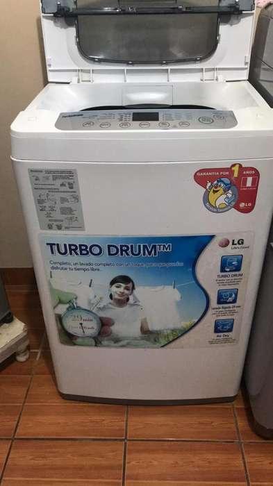 Lavadora Lg Turbo Drum de 7.5Kg