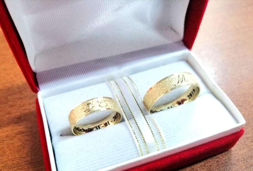 Aros de Boda Matrimonio Económicos Oro
