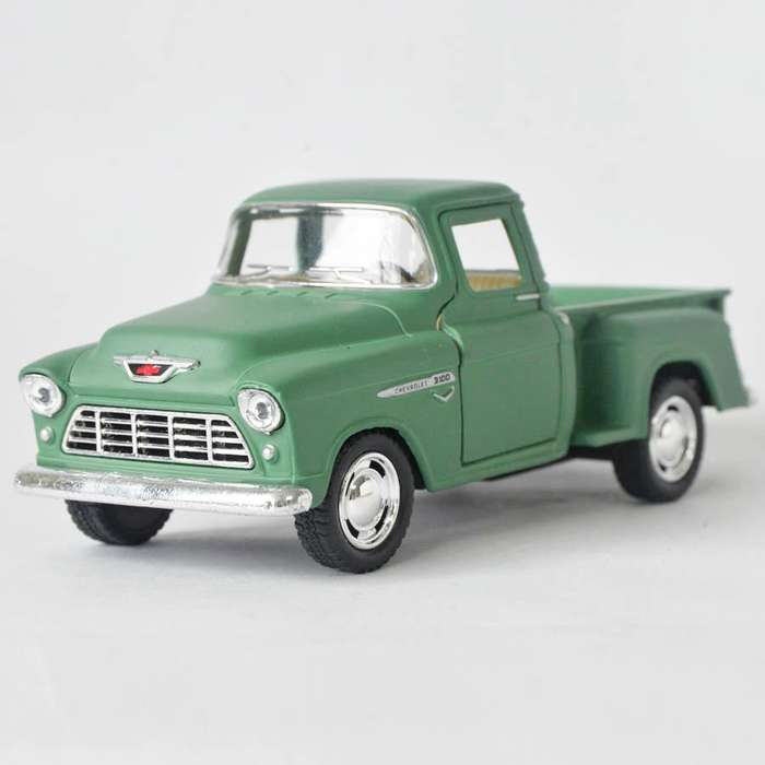 Chevy Stepside Pick Up 1955 Verde Mate Escala 1:32 Ref 559