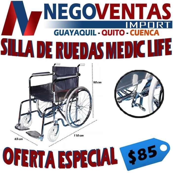 SILLA DE REUEDAS REFORSADA MEDIC LIFE