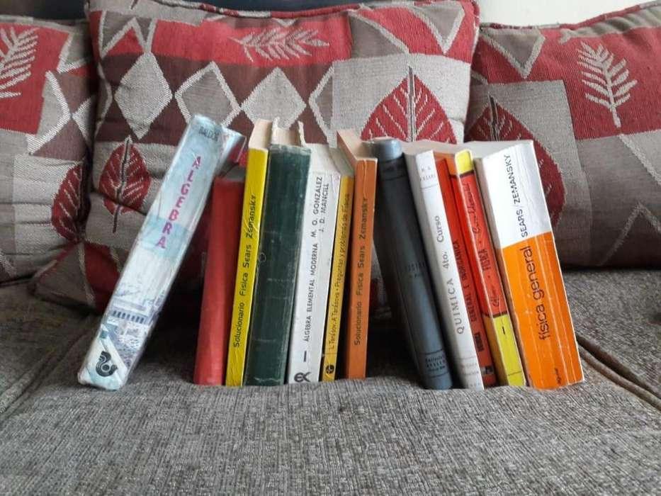 Vendo libros matemáticos, químicos y físicos