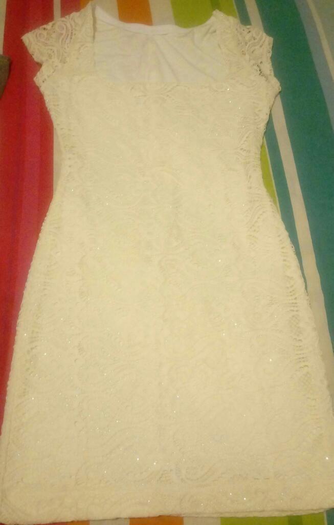 Vestido Señido Encaje Strch 1 Uso