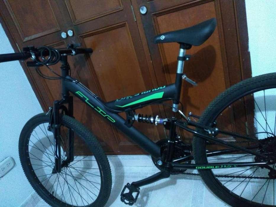 Bicicleta Flip Flop Negra Y Verde
