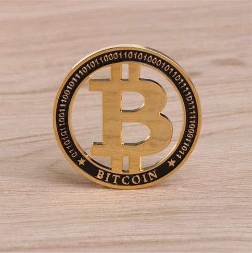 Moneda Bitcoin (física) criptomoneda