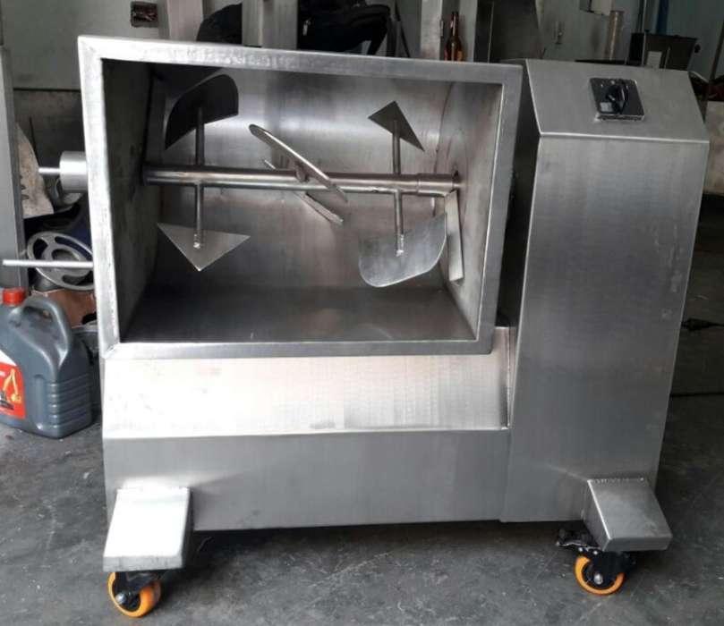 Mezcladora para Carne en Acero Inox