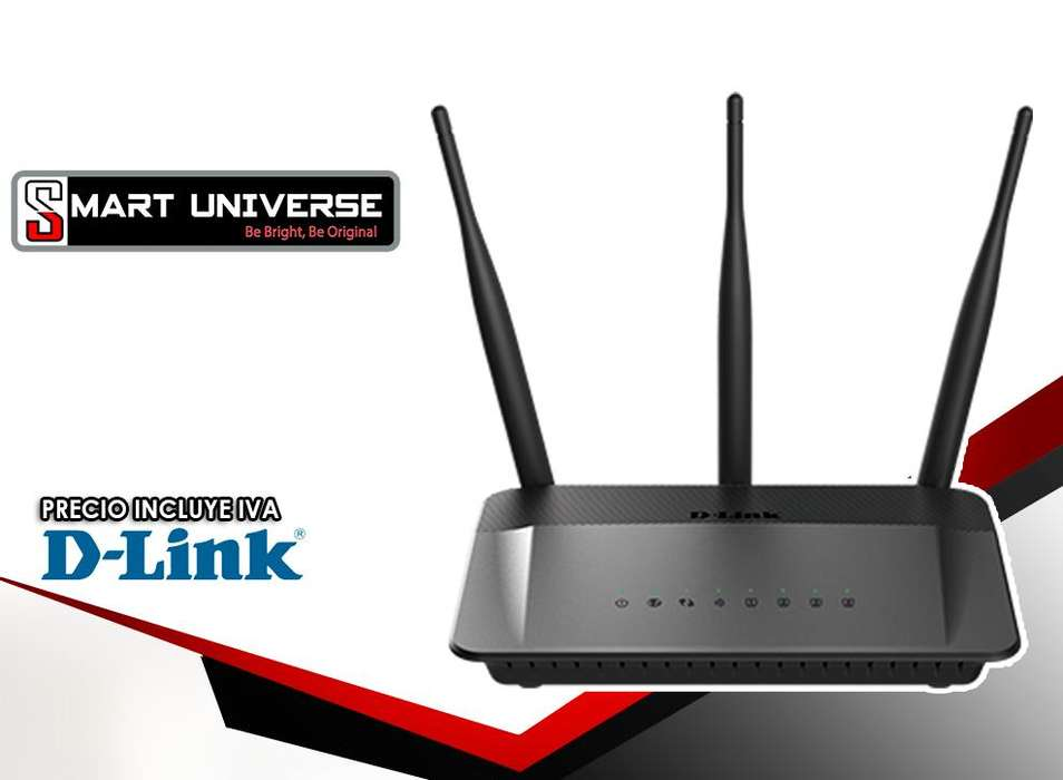 Router Dlink Dir809 Wifi Ac750 Dual Band 2.4ghz 5ghz 3 Ant