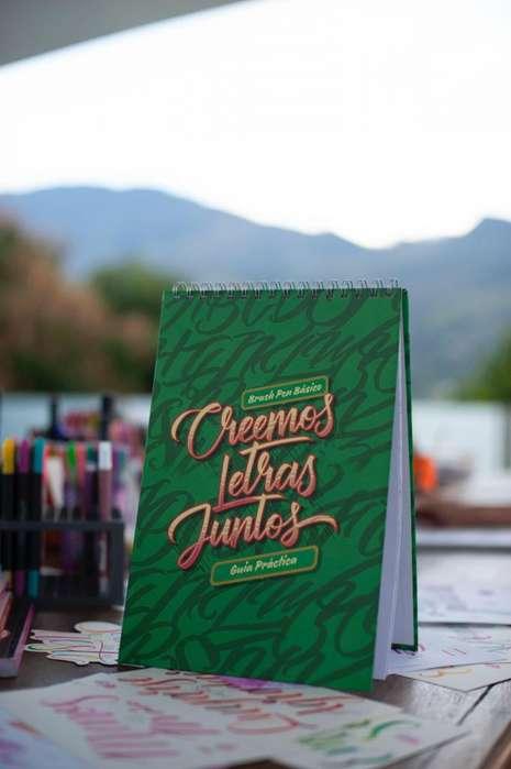 Libro lettering basico Creemos Letras Juntos