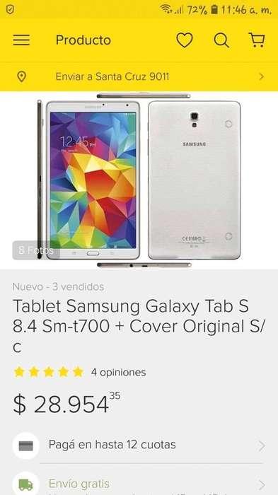 Vendo Tablet Samsung S-mt700