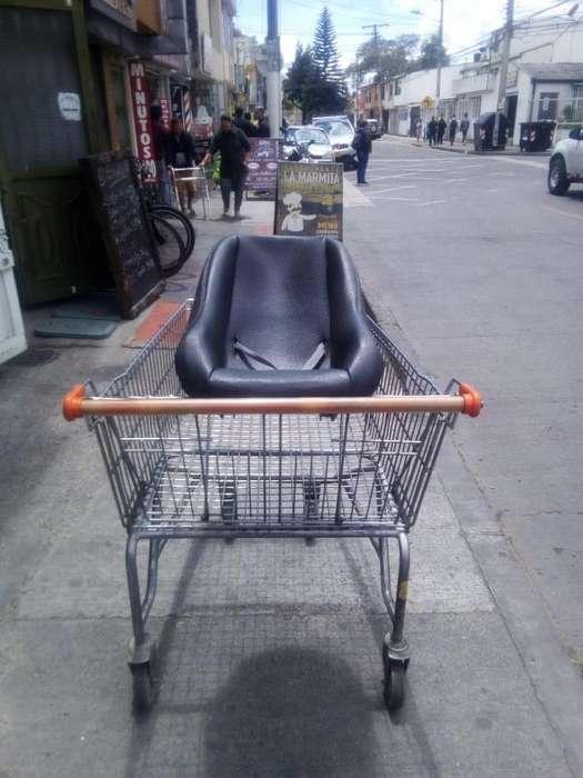 Carro supermercado con silla de bebe