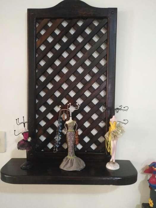 mueble adorno de pared de madera de pino modelo rustico para sala o cocina
