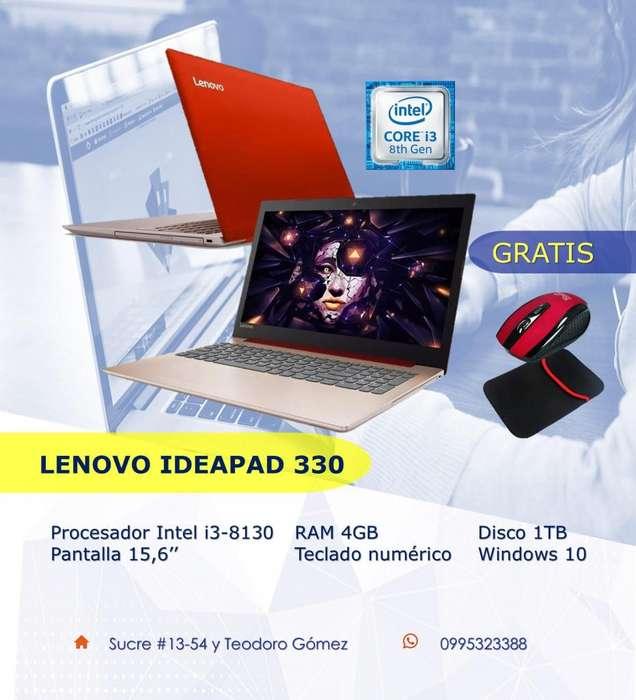 Portátil Lenovo core i3 8va Generación