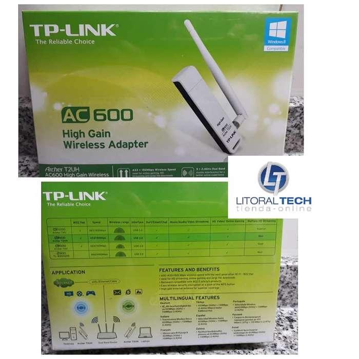 Adaptador de red WIFI USB. AC600 archer T2UH. Tp-Link 1 antena