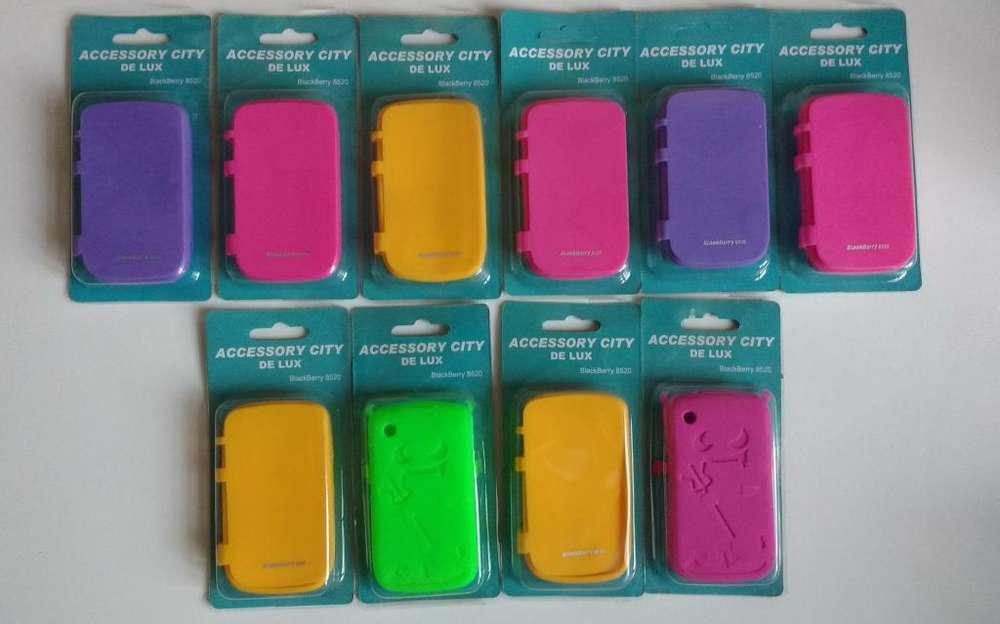 Lote 10 fundas estuches carcasas anticaidas Blackberry 8520 FundasJess Burbujas mercadolibre