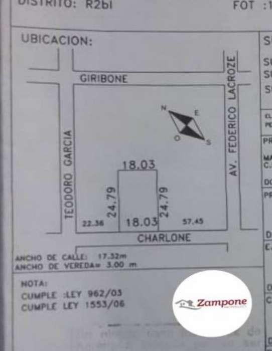 EXCELENTE LOTE DOBLE FRENTE 18,03 X 24,79 EN VENTA USAM (NUEVO CODIGO), CHACARITA. PLANOS APROBADOS