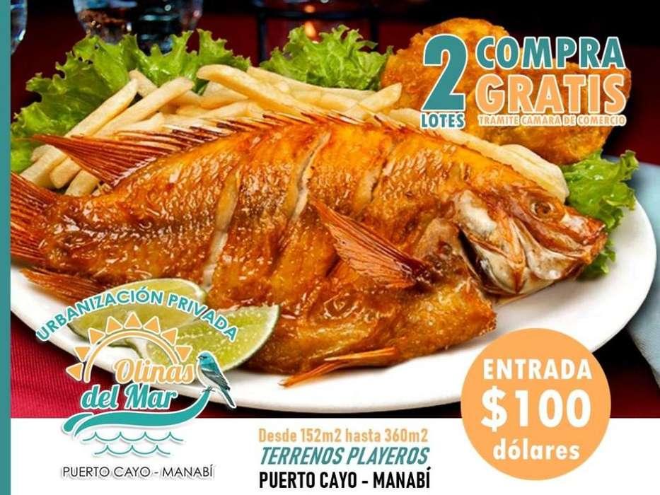 !!Degusta la comida en tu propio lote¡¡ Terrenos urbanizados en la playa en Urb. Olinas del Mar entrada de 100 usdS1