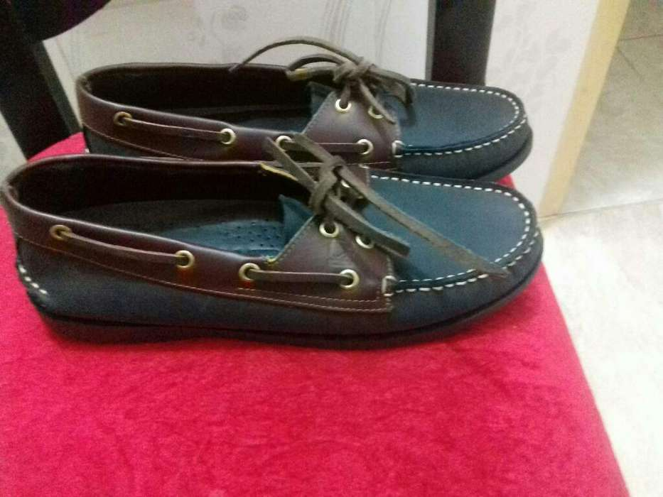 Sperry Top Sider Negro Y Cafe