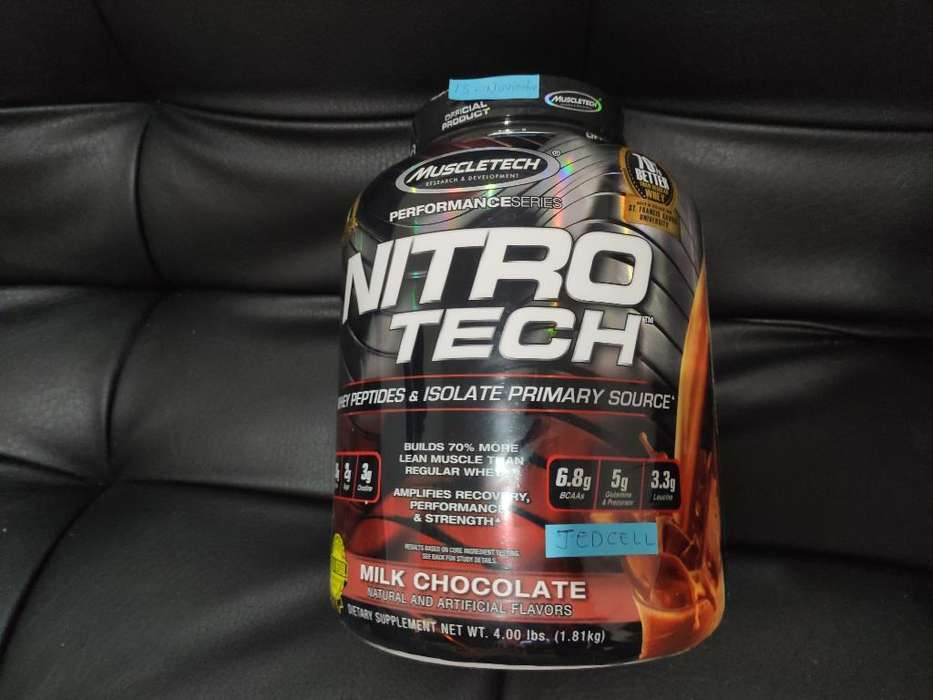 Nitro Tech Whey Proteína 4lbs Oem Regalo