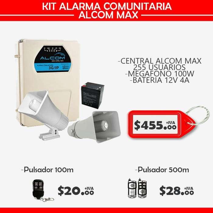 ALARMA COMUNITARIA ALCOM MAX/ KIT ALARMA COMUNITARIA-QUITO-ECUADOR