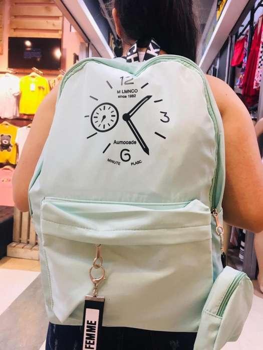 Bolso morral Dama Diseño Reloj