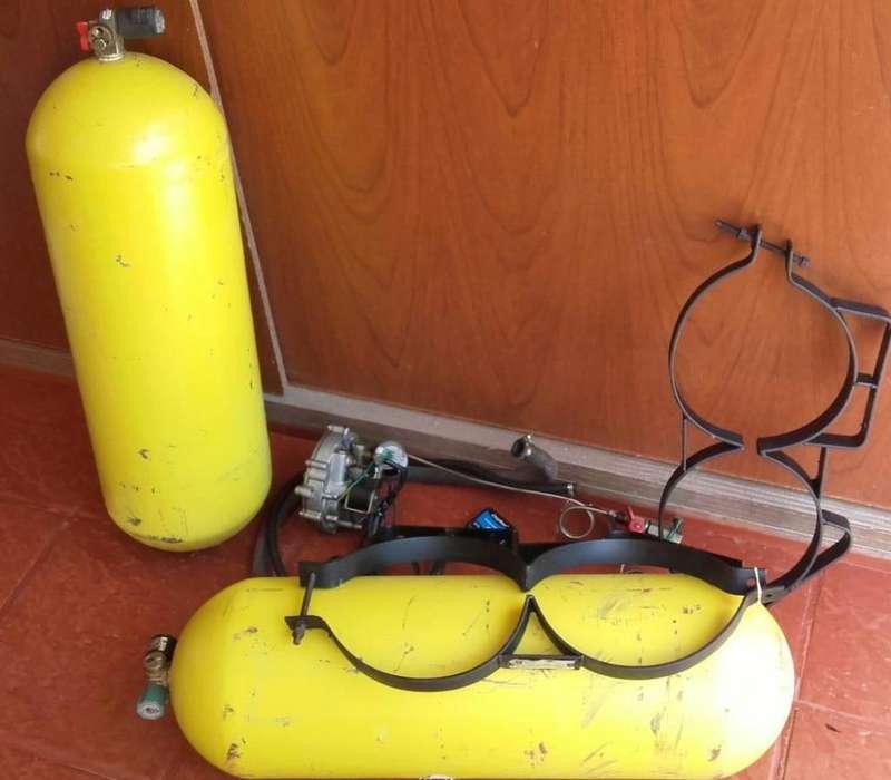 Equipo GNC con 2 tubos de 10m3