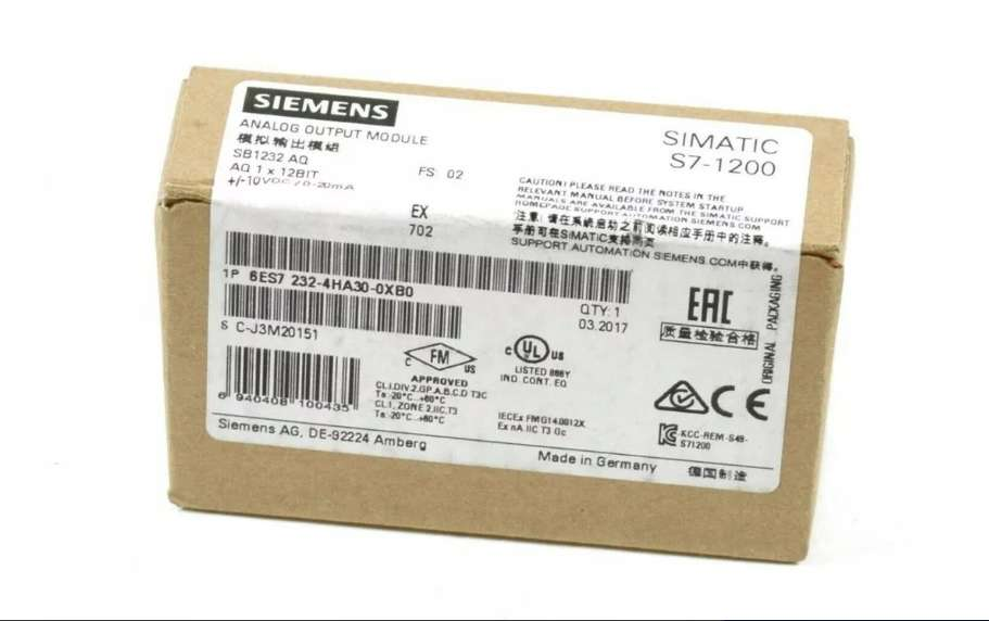 Siemens S7 1200 Sb1232 Aq 1x12 Salida Analógica