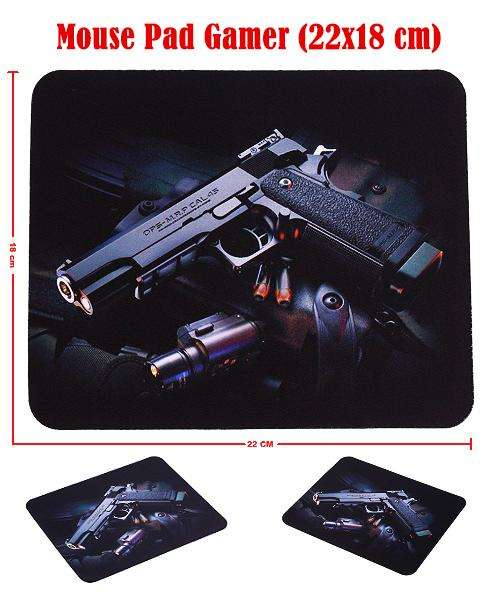 Mouse Pad Gamer Pistol