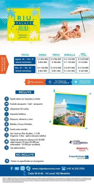 Viaje como un Rey a Aruba RIU PALACE ARUBA con Viajes la Corona