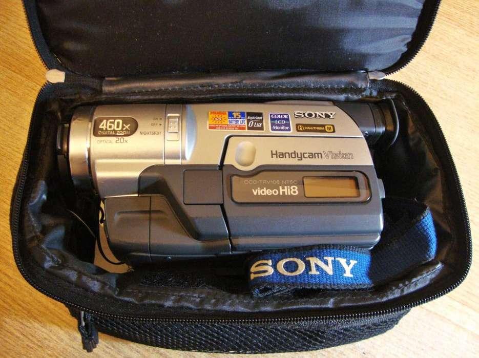 Videocámara SONY Handycam Hi8 TVR108, con cargador, manual, bolso y cables