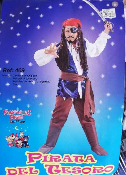 Vendo disfraz pirata talla 8 y talla S