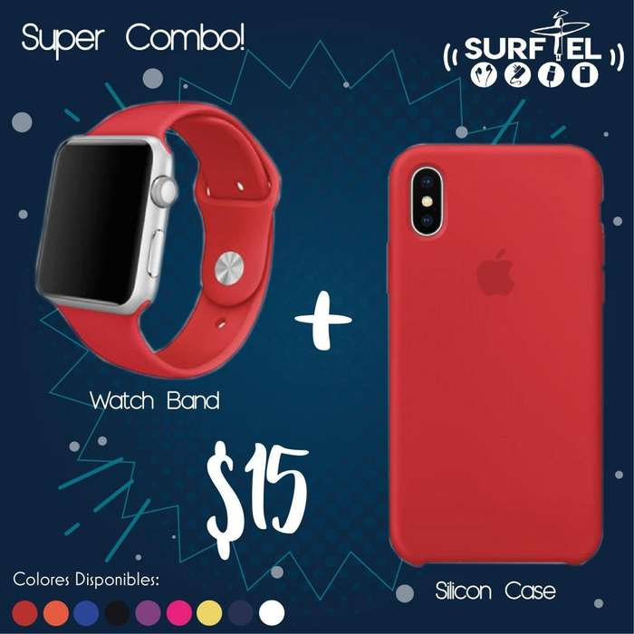 Silicon Case Apple Watch Band