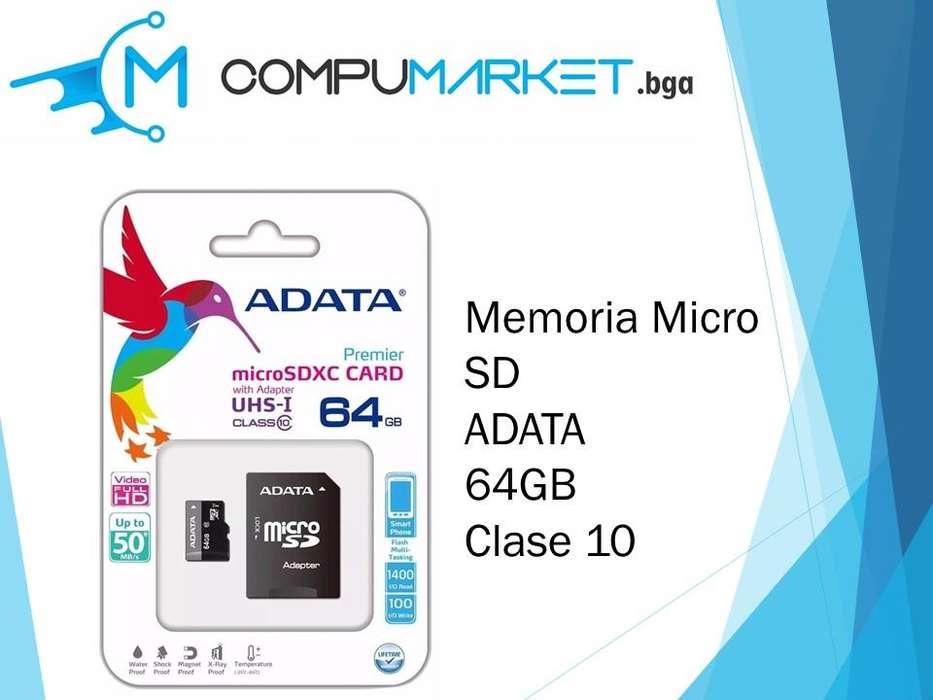 Memoria micro sd ADATA 64gb clase 10 nuevo y facturado