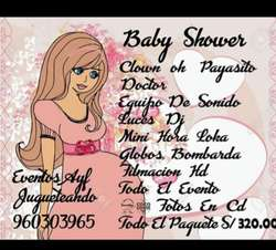 Show Infantiles Equipo Baby Shower Luces