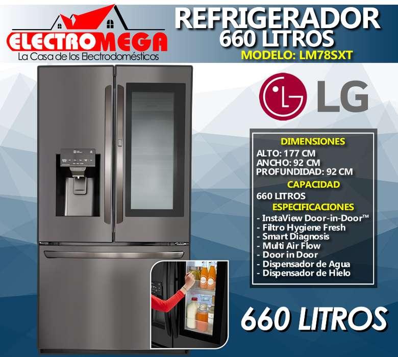 Refrigeradora Lg Instaview Doorindoor 660l Inverter Negra