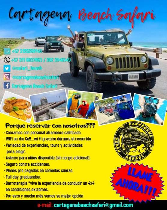 Pasadia Cartagena Beach Safari