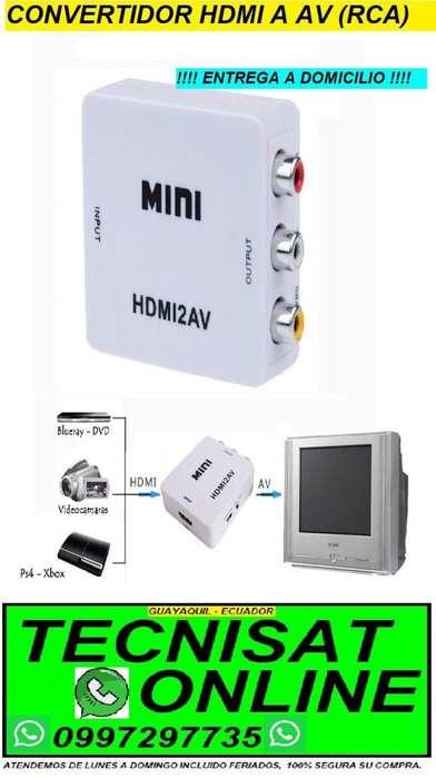 CONVERTIDOR DIGITAL HDMI A AV RCA ANALOGICO PARA TODO TV PLAY STATION, DVD, ETC