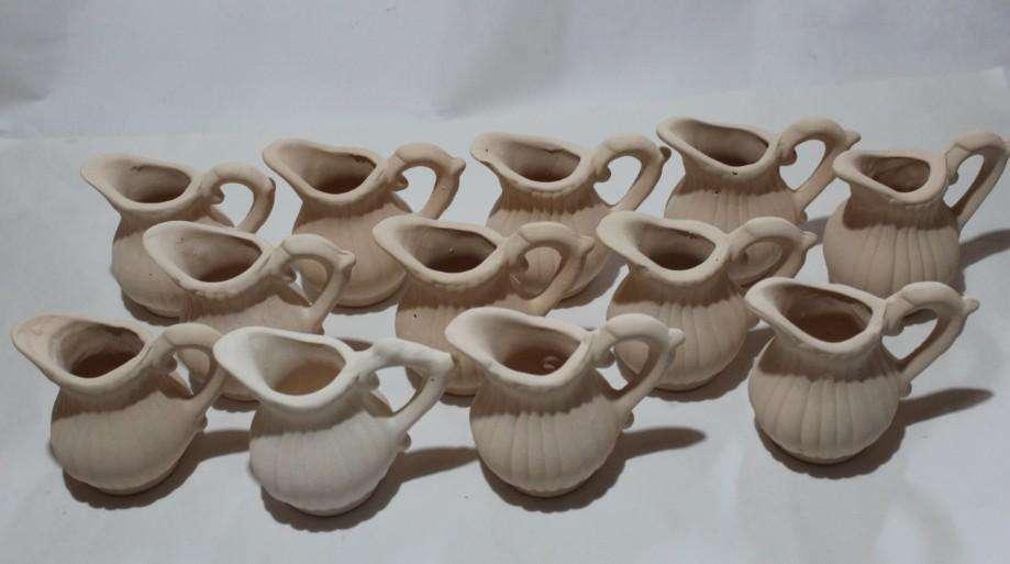 12 jarritas cerámicas para pintar de 8,5 cm 100
