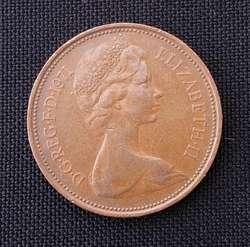 Monedas Reino Unido 1 New Penny 1971 y 1981