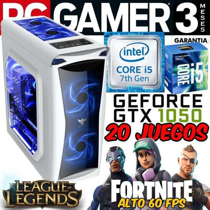 Pc Gamer Nueva Core i5 7400 Gtx 1050 25.999 Contado 20 Juegos