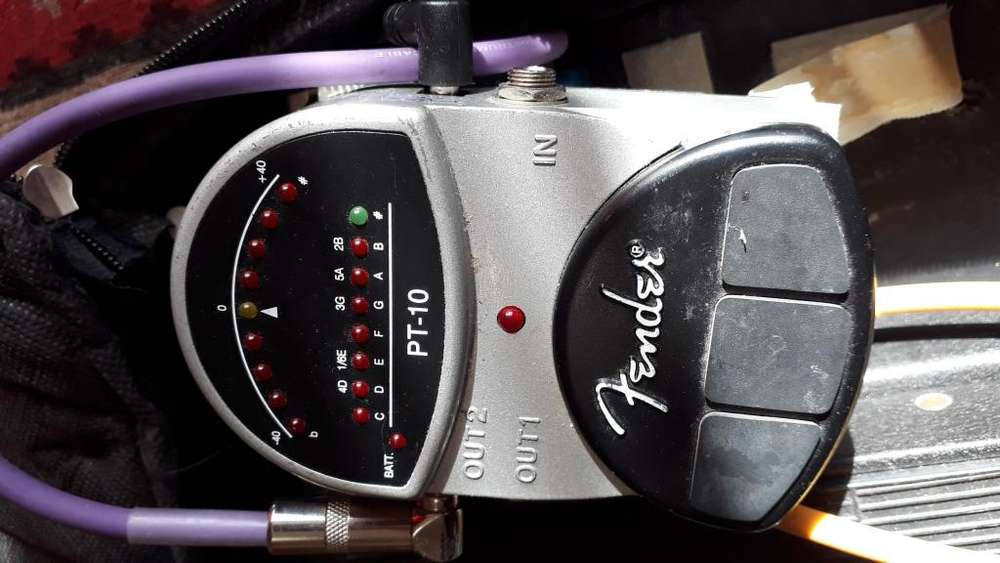 Fender Pt10 Pedal Afinador